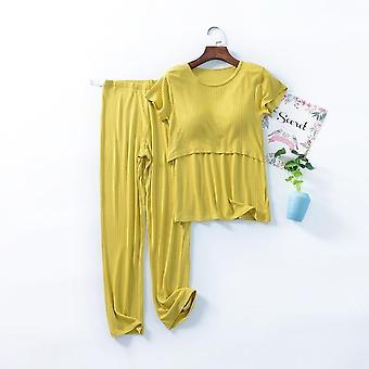 مجموعة تمريض الأمومة، مجموعة بيجامة الرضاعة الطبيعية لملابس النوم النسائية