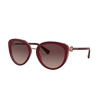 Bvlgari BV8226B 5469E2 Bordeaux On Transparent Red/Gradient Brown/Purple/Black Sunglasses
