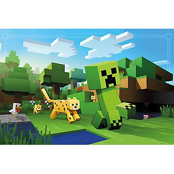 Minecraft ocelote Chase Maxi Poster