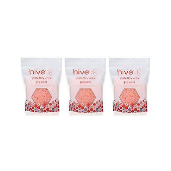 Hive Of Beauty 3 Voor 2 Waxing Peach Paraffine Warmtetherapie Behandeling 700g Pellets