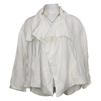 WynneLayers Women's Sedona Jacket With Drawstring Collar White 741390