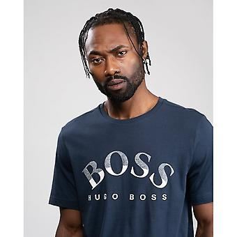 BOSS BOSS Cotone Organico Logo Curvo T-Shirt 1 Uomo