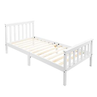White Single Bed Frame For Adults, Kids