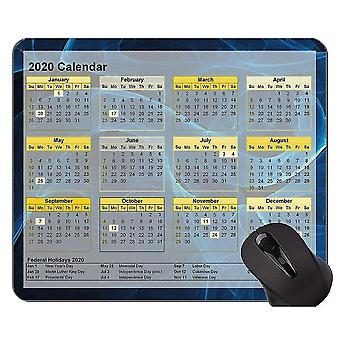 Mouse pads 260x210x3 2020 calendar custom original mouse pad green star point themed mouse pad with stitched