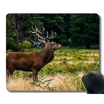 Mouse pads 260x210x3 mouse pad deer animal horn -stitched edges