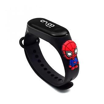 Led Nové dětské elektronické digitální zobrazení Hodinky Cartoon Girls Boys Roztomilé náramkové hodinky Vodotěsné Dětské halloweenské dárky Iron Man