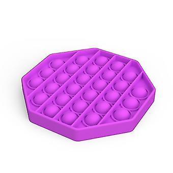 Pop it fidget giocattoli sensoriali sollievo per lo stress e l'ansia (L - Viola)