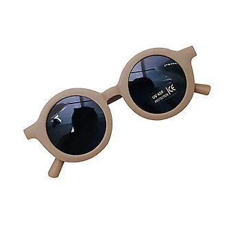 Gafas de sol de color sólido estilo retro para niños (marrón)