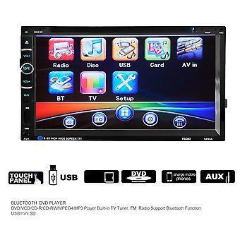 7in 2din 800 * 480 Autó sztereó rádió DVD lejátszó USB Bluetooth Fm