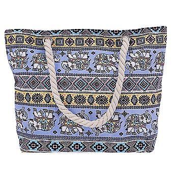 Womens Canvas Tote Stor väska med övre dragkedja