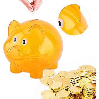 Piggy Bank Gjennomsiktige Penger Krukker Candy Jar