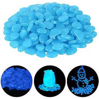 Dekoratívny dláždený svetelný kameň v noci, vhodný pre vonkajšie záhradné akvárium Courtyard Stone Blue (balenie po 100)