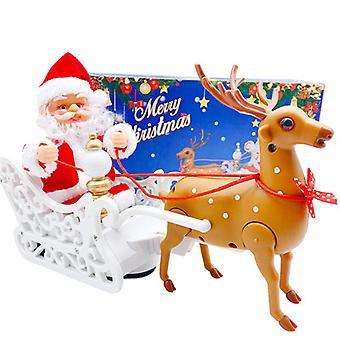 Yesfit Joulu lelu Sähkö joulupukki peurakärry musiikin joulukoristeita