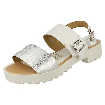 Womens Savannah Buckle Strap sandales rétro