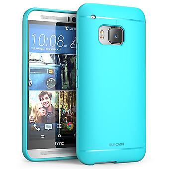 HTC One M9 Case, SUPCASE Premium Ultra Slim Fit SoftGel flexibelt TPU Case för HTC One M9 (2015 Release), blå