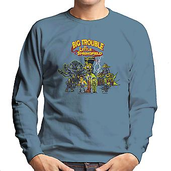 Big Trouble In Little Springfield Simpsons China Men's Sweatshirt