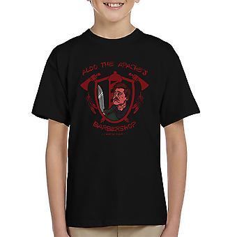 Inglourious Basterds Lt Aldo Raine Aldo de Apaches Barbershop Kid's T-Shirt