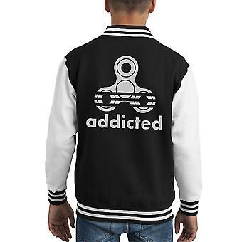 Varsity Jacket Fidget dipendente Spinner Adidas capretto