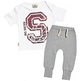 Verwend rotte grote zus Baby T-Shirt & Joggers Outfit Set