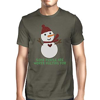 Worth Melting For Snowmen T-Shirt For Men Funny Saying Graphic Tee