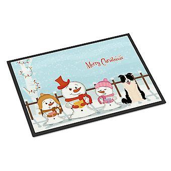 عيد ميلاد سعيد الجوقات بوردر أسود أبيض داخلي أو في الهواء الطلق حصيرة 24 × 36