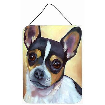 Chihuahua czarno-Tan ściany lub drzwi wiszące drukuje