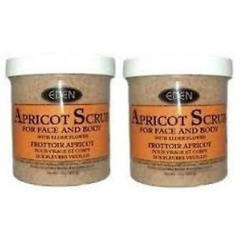 Eden abrikoos Scrub voor gezicht & lichaam 227g (2-Pack)