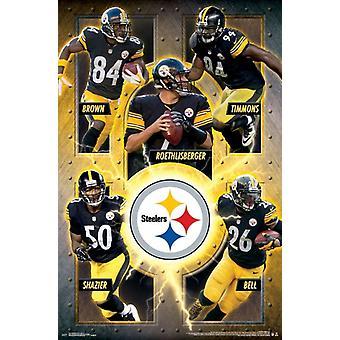 Pittsburgh Steelers - joukkue 16 Juliste Tulosta