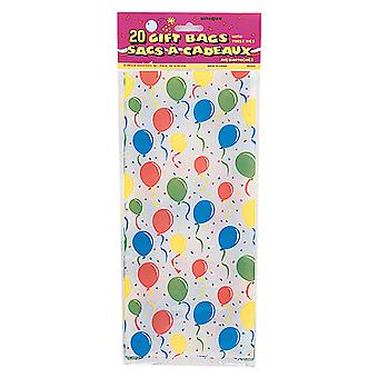 Unique Party Balloon Design Cello Bags (Pack Of 20)
