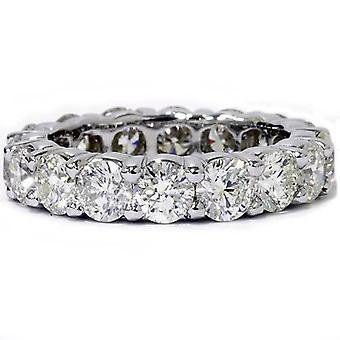 5ct spiss Diamond evigheten Ring 14K hvitt gull