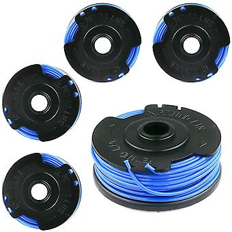 5 x Spool & Line Fits Ryobi RLT5030S, Macallister MGT600 Strimmer Grass Trimmer FL289