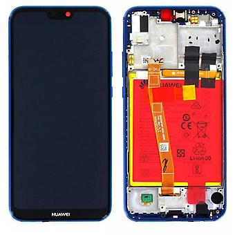 Huawei display LCD unit + frame for P20 Lite Service Pack 02351VUV blue new
