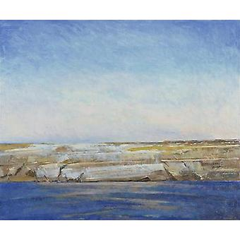 Coastline, Gozo (oil on canvas) by.. - Art Print