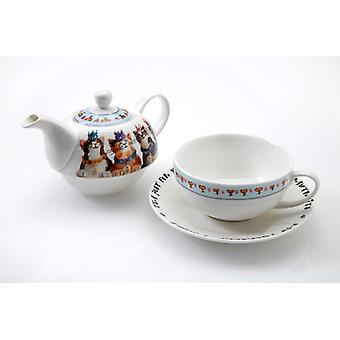 Royal Furmily Pawtraits Tea for One Set