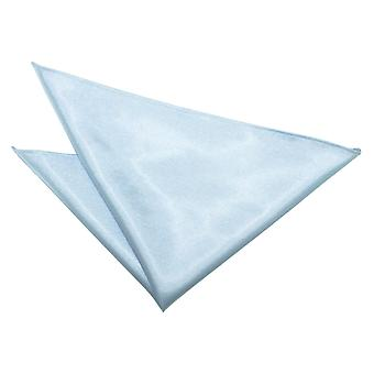 Baby Blue Plain Satin Pocket Square