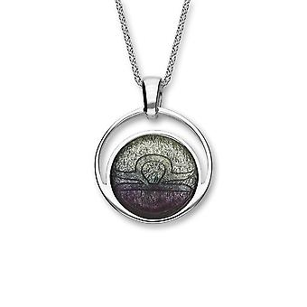 Sterling Silver Traditional Scottish Zodiac Libra Hand Crafted Necklace Pendant Mistral