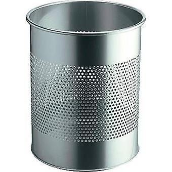 Durable 3310 331023 Waste paper basket 15 l (Ø x H) 260 mm x 315 mm Metal Silver 1 pc(s)