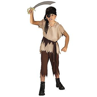 Piraat Boy Captain Cutthroat Treasure Hunter boek Week jongens kostuum