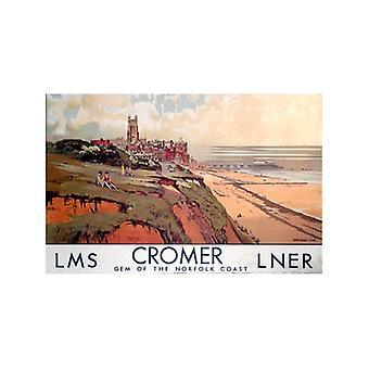 Cromer, Norfolk Ls (gamle jernbane E.kr.) Køleskabsmagnet