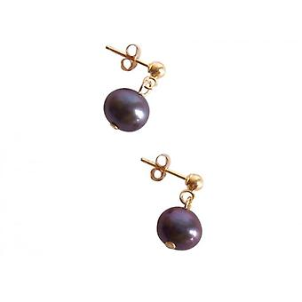 Tahitian Pearl ear studs earrings Pearl Earrings gold plated
