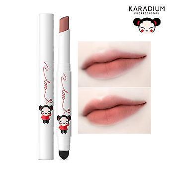 Karadium Pucca Love editie vlekken Velvet Matte langdurige Lip Tint Stick 1.4g - (#06 bruin rood)