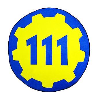 Fallout 4 Vault 111 Circular Gear Fleece Blanket
