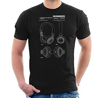 Melhor do que t-shirt fones de ouvido patente Blueprint masculino