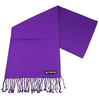 Knightsbridge Neckwear plaine Scarf - violet