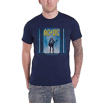 AC/DC T Shirt Who Made Who Band Logo new Official Mens Blue