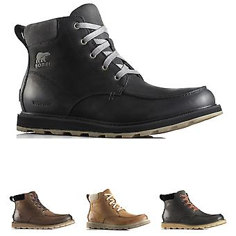 Mens Sorel Madson Moc Toe Waterproof Nubuck Snow Winter Hiker Ankle Boot