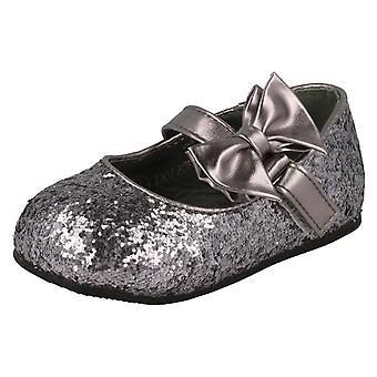 Lugar de meninas na Glitter Bow detalhe Flats festa H2305