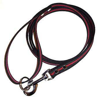 K9-Sport Super-Grip leash with handle, black/red