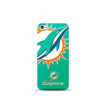 Mizco Sports NFL Oversized Snapback TPU Case for Apple iPhone 5 / 5S / SE (Miami Dolphins)