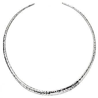 Inizii martellato coppia collana - argento